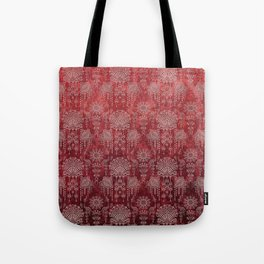 Victorian Potpourri - Faded Splendor Damask - RUBY Tote Bag