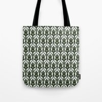 221b Tote Bags featuring 221b Wallpaper by rogueleader