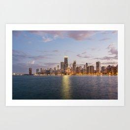 Chicago Skyline from North Avenue Beach Art Print