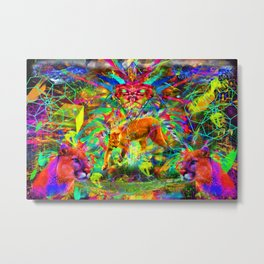 The Laser Focus of Couger Conciousness Metal Print