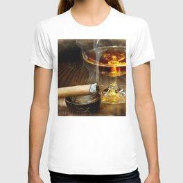 Cigar And Cordial Painting Cigars T-shirt