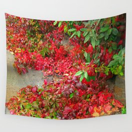 Cascade of Leaves Wall Tapestry
