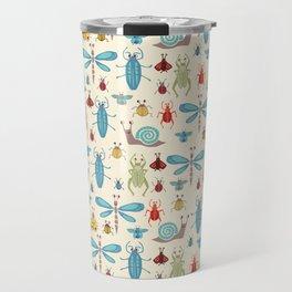 Little Bugs & Mini Beasts on Cream Travel Mug