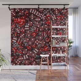 Red dice Wall Mural