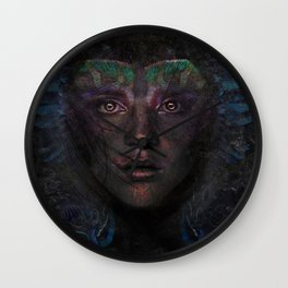 Blue Woman Wall Clock