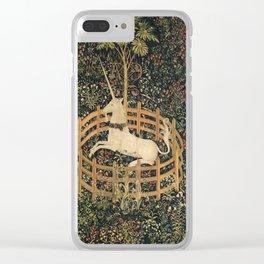 The Unicorn In Captivity Clear iPhone Case