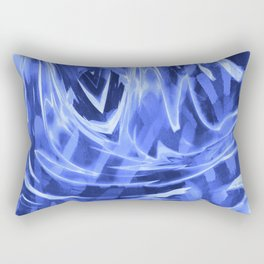Floating In A Sea Of Blue Rectangular Pillow