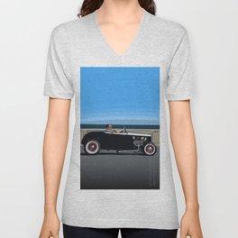 Hot Rod Beach Racer Unisex V-Neck