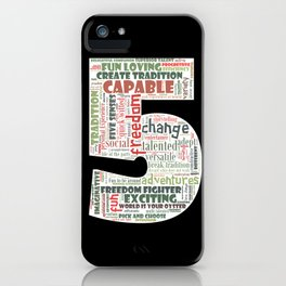 Life Path 5 (black background) iPhone Case