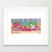 vegan Framed Art Prints featuring vegan by It Says Error