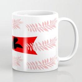pink feathers and black bird Coffee Mug