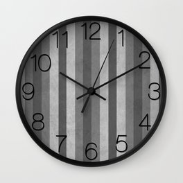 Stripes Collection: Fifty Shades Wall Clock