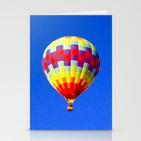 hot air balloon Stationery Cards featuring  hot air balloon by Lavender~Ramonde