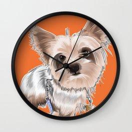 "Custom puppy illustration: ""Mija"" Wall Clock"