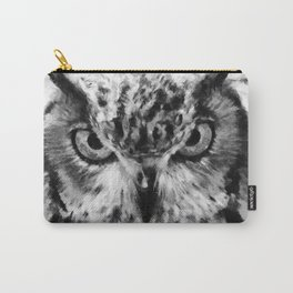 owl look digital painting orcbw Carry-All Pouch