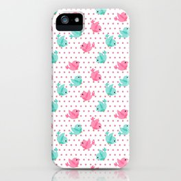 Freely Birds Flying - Fly Away Version 1 - Pink Rough Dots Color iPhone Case