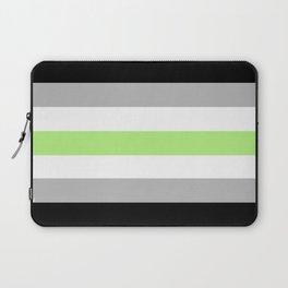 Agender Flag Laptop Sleeve