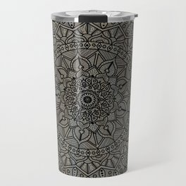 Circle of Life Mandala Brown and Blue Travel Mug