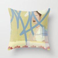wallpaper Throw Pillows featuring Wallpaper by John Murphy