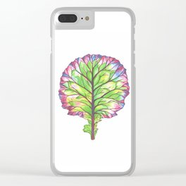 Colors of Kale Clear iPhone Case