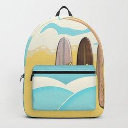 Aloha Surf Wave Beach Backpack