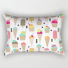 Ice Cream tropical summer spring central park new york city geometric food sweet treat dessert Rectangular Pillow