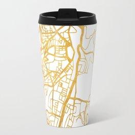 JERUSALEM ISRAEL PALESTINE CITY STREET MAP ART Travel Mug
