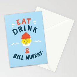 Eat, drink and be merry Stationery Cards