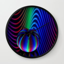 Colours of crystal Wall Clock