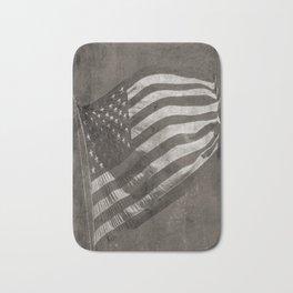 American Flag Vintage Bath Mat