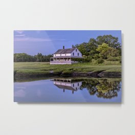Essex river house reflection Metal Print