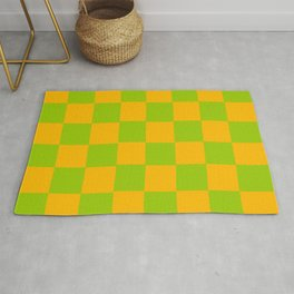 Lime Green & Golden Yellow Chex 2 Rug
