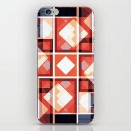 Orange Abstract Squares Pattern iPhone Skin