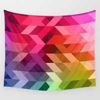 3d Wall Tapestries featuring 3d Retro  by T M B