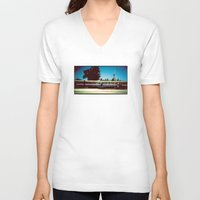 train V-neck T-shirts featuring Train by Ibbanez