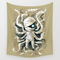 mythology Wall Tapestries featuring Mummy by Freeminds