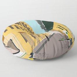 Cartagena de Indias, Colombia Travel Poster Floor Pillow