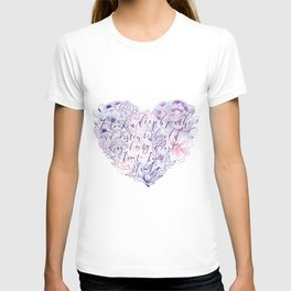 flower heart . sylvia plath quote . the bell jar T-shirt