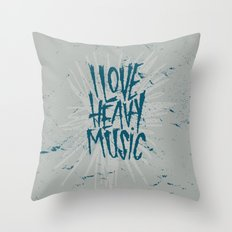 HEAVY MUSIC Throw Pillow