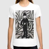 chaplin T-shirts featuring Charlie Chaplin by Gabrielle Wall