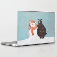 snowman Laptop & iPad Skins featuring Snowman by Nadia Kovaliova