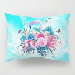 FLORAL FLAMINGO Pillow Sham