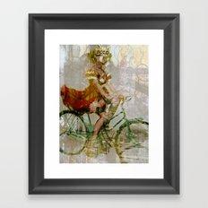 Speeding Down the Street, Devilish. Framed Art Print