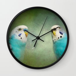 The Budgie Collection - Budgie Pair Wall Clock