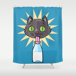 No Milk Cat Shower Curtain