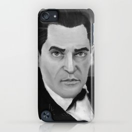 J. Brett as Sherlock Holmes Black and White iPhone Case