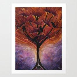 Crow Connection Art Print