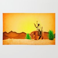 western Area & Throw Rugs featuring Western Boba by plopezjr