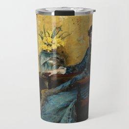 """William Merritt Chase """"Portrait of Dora Wheeler"""" Travel Mug"""