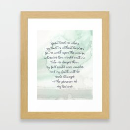 Oceans (Where Feet May Fail) Framed Art Print